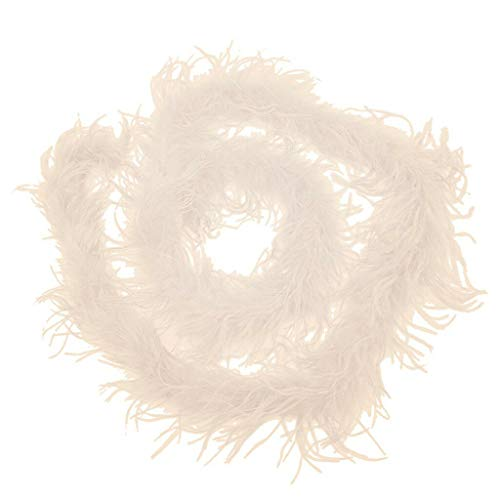 6 Color 2m Ostrich Feather Boa Strip Fluffy Trim for Clothing Hat Millinery (Color - Khaki)