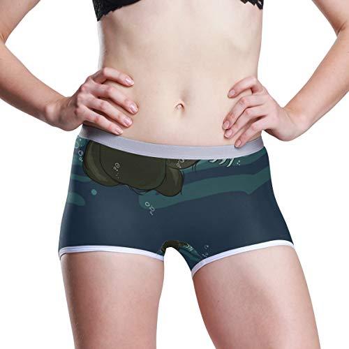 (SHNUFHBD Women's Regular & Plus Size Underwear,Sloth with Branches and Money Temptation Stretch Boxer Briefs Boyshort Panties M)