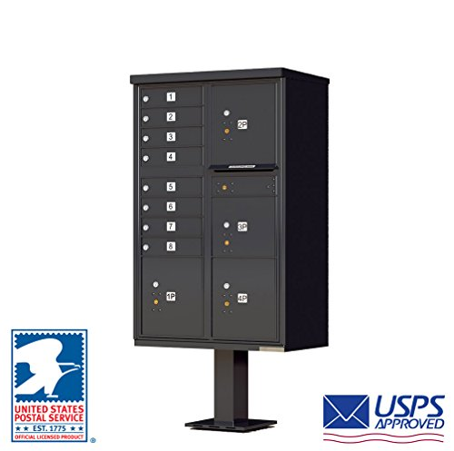 Vital™ Cluster Box Unit Type VI 8 Mailboxes with 4 Parcel Lockers Finish: Black Pebble