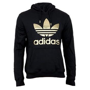 035bad27aa8f adidas Herren Kapuzenpullover Trefoil Hoodie X-Small Negro Dorado (Black  Gold)