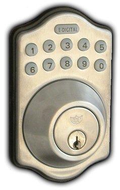 UPC 831469006520, Lockey E-910 Electronic Keypad Single Cylinder Deadbolt with 6 User Codes and LED Illumination, Satin Chrome