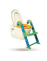 KidsKit 3 in 1 Potty Training Seat Potty Chair | Potty Seat Training Sturdy Non-Slip Ladder, Toilet Seat Reducer Portable Potty
