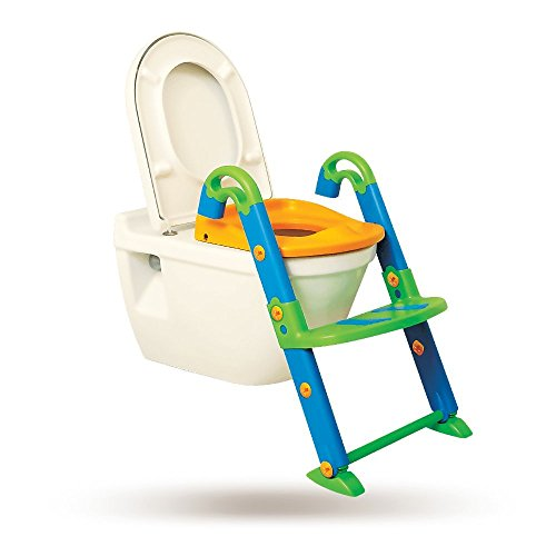 KidsKit 3 in 1 Potty Training Seat Potty Chair | Potty Seat Training Sturdy Non-Slip Ladder, Toilet Seat Reducer Portable Potty ()