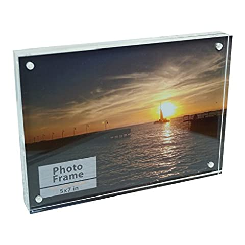 Clear Acrylic Magnet Photo Frame Block (5x7