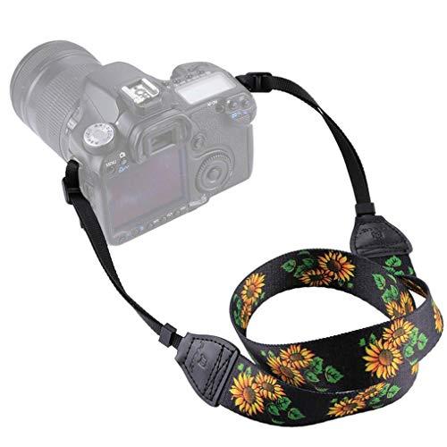 GUAngqi Retro Classical Camera Strap Camera Single Shoulder Lens Strap Camera Neck Strap for Canon Nikon Sony DSLR Camera,Sunflower Color,Cotton by GUAngqiqi (Image #5)