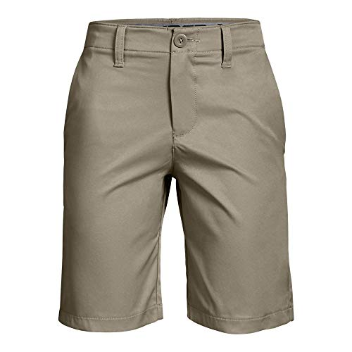 Under Armour Boys' Match Play 2.0 Golf Shorts, Barley/Barley, 14