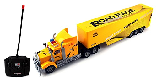 R-500 Semi Trailer Remote Control RC Transporter Truck Ready To Run (Colors May Vary)
