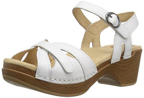 Dansko Women's SEASON Sandal, White Full Grain, 36 Medium EU (5.5-6 US) Dansko Professional White Box