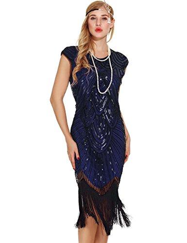 blue 1920s dress - 4