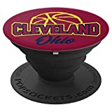 Cleveland, Ohio - Basketball Crimson & Gold Pop Socket - PopSockets Grip and Stand for Phones and Tablets