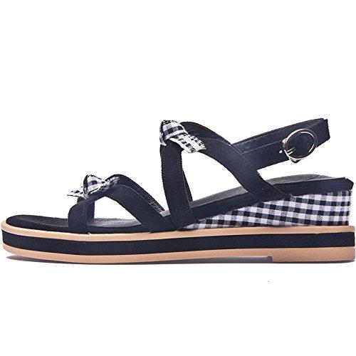 SOHOEOS Sandalias planas para Mujer Señoras Verano nueva plataforma de cuña oblicua señoras Dreamgirl tiras de sandalias sandalias romanas