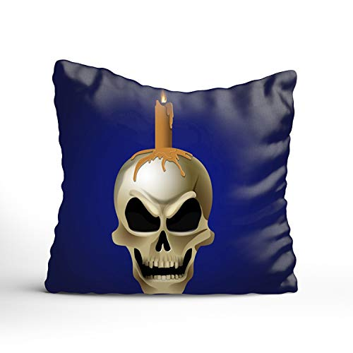 Dolores Joule Decorative Throw Pillow Covers Striped Modern Pillowcases for Indoor Outdoor (20x20 inch, Bright Graffiti of Skull) ()