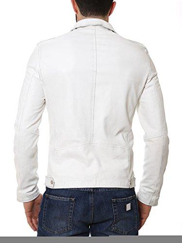 Dark Label Homme DRKG503 Blanc Cuir Veste