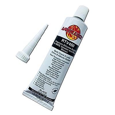 LavaLock® BLACK Food Safe BBQ adhesive 3 oz grill smoker High Temp RTV Silicon