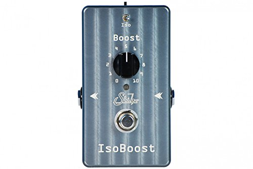 Suhr Iso Boost Pedal Bundle w/ free 4 Items: StageTrix Setting Saver Pen, StageTrix Pedal Fastener, 2x Hosa Patch Cables