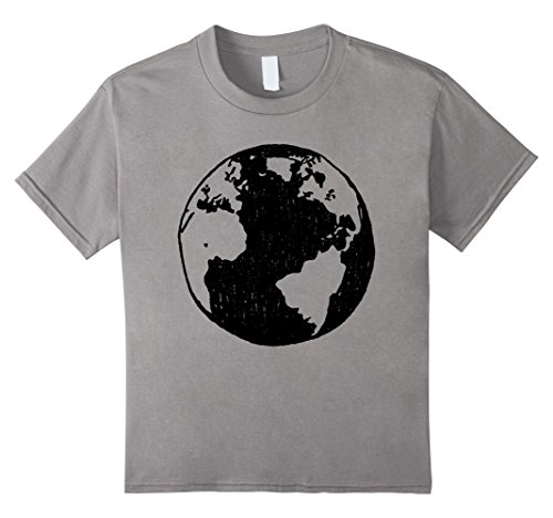 Kids Planet Earth T-Shirt for Earth Lovers 10 Slate