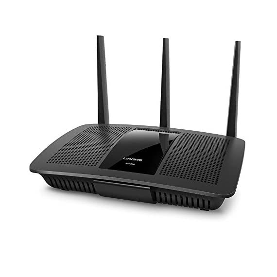 "Linksys 3 Works with Alexa Intelligent tri-band router with -speed Wi-Fi bands up to 2. 2 Gaps. ""Smart connect"" Intelligently chooses the best radio band for your wireless Mu-mimo+ Airtime Fairness improves Ming with 6 high power amplifiers focus and maximize performance and coverage for Both 2. 4GHz & 5GHz"