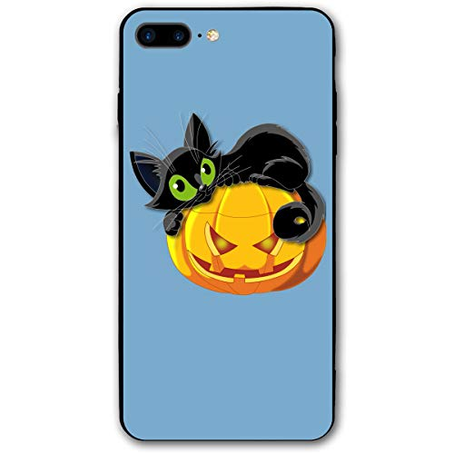 customgogo for iPhone 7 Plus Case, for iPhone 8 Plus Case, Halloween Cat Ultra Thin Mobile Phone Cover Case Shell Shockproof Full-Body Protective Case Cover for iPhone 7 Plus /8 -