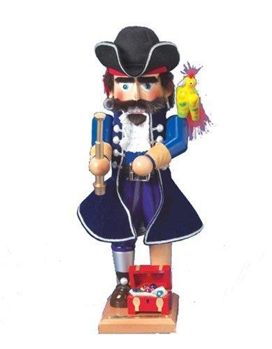 - Kurt Adler Steinbach 17-Inch German Nutcracker Pirate Series, Long John Silver