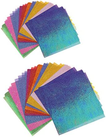 F Fityle 折り紙 カラーペーパー 片面 DIY ペーパー アート クラフト 手芸用品 子供 DIYキット 約200個