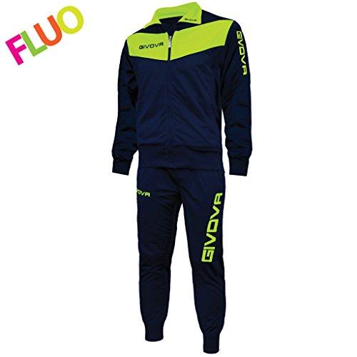 Tr018 Tuta Fluo giallo Adulto Blu Givova Unisex wUq5wf