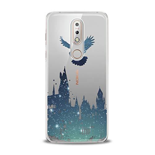 Lex Altern TPU Case for Nokia 9 PureView 8.1 Plus 7.1 6.1 X6 5.1 3.1 Blue Watercolor Owl Harry Castle Cover Silicone Elegant Shiny Print Beautiful Kid Magician Boy Design -