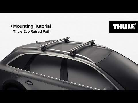 Black Thule 710400 Roof Racks Evo Raised Rail Set of 4