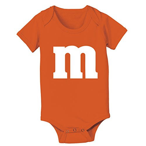 Funny Threads Outlet M Candy Costume Cute Halloween Outfit Group Kids Children Humor Baby One Piece 12 Months Orange