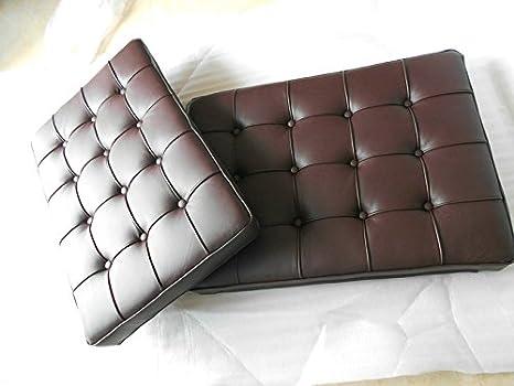 Top Grain Italian Leather Three Seater Barcelona Style Sofa