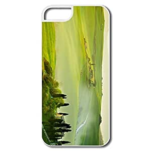 IPhone 5/5S Hard Plastic Cases, Tuscany Spring Landscape White Cases For IPhone 5