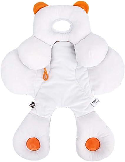 Baby 2 en 1 Reversible Head /& Body Support para Cochecito//Asiento de Coche Desmontable Cuello Infantil Soporte con Algod/ón Org/ánico Ajustable Coj/ín Almohada