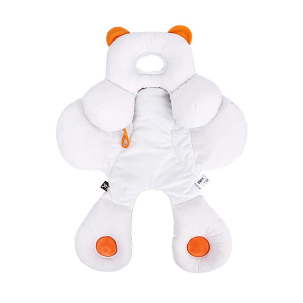 Baby 2-in-1 Reversibile Testa e Corpo Sostegno per Passeggino/seggiolino Auto Staccabile, Supporto Regolabile in Cotone Biologico con Cuscino Cuscino per Sesso Unisex, Baby Infant Newborn Gift Ecreate FBA-H017-S