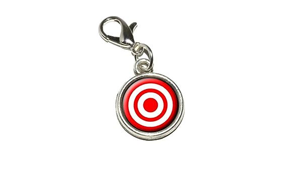Grafiken und mehrTarget Sniper Scope Bullseye Metall Lesezeichen mit Charm