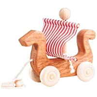 Viking boat, a boat of Vikings, a wooden boat, Baby wooden toy