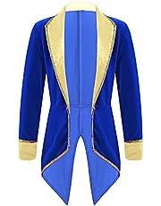 Huimingda Toddler Girl Boy Prince Costume Halloween Ringmaster Cosplay Party Fancy Dress Up Tuxedo Tailcoat Jacket
