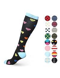Compression Socks for Women Men 20-30 mmHg - Best for Travel, Nurse, Maternity