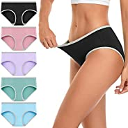 wirarpa Women's Cotton Stretch Underwear Panties Ladies Low Rise Hipsters Assorted Colors 5