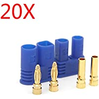 New 20 Pairs Amass EC2 Male Female Bullet Connector Banana Head Plug For RC Lipo Battery By KTOY
