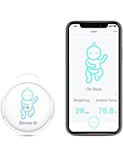 Sense-U Baby Monitor with Breathing Rollover Movement Temperature Sensors: Track Your Baby's Breathing, Rollover, Temperature(Newest Model for Best Accuracy)