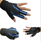 Leoie Billiard Pool Shooters Left Hand 3 Half Fingers Billiard Gloves Snooker Gloves High Strength Billiard Accessories