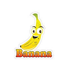 Banana Concession Restaurant Die-Cut Window Static Cling 18 inches Inside Glass
