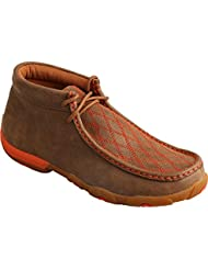 Twisted X Womens Driving Moccasins , Bomber/Orange
