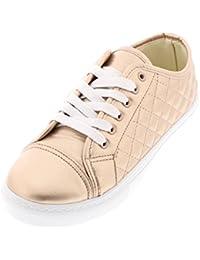 Women's Casual Lace Up Fashion Sneaker Memory Foam Street...