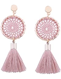 7 Colors Handmade Bohemian Tassel Earrings Vintage Ethnic Jewelry Earrings