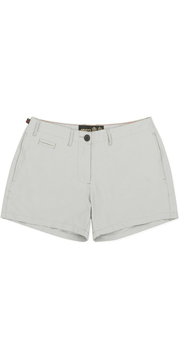 Musto Damen Rib UV Schnell Dry Stiefelfahren Wassersport Shorts Platin - Easy Stretch UV Sonnenschutz und SPF-Eigenschaften B07B8MG522 Shorts Freizeit
