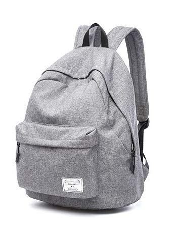 Diswa Classical Unisex Backpack for Women Nylon Child School Bag Special Use for Picnic 30 * 40 * 16 cm (Grey)