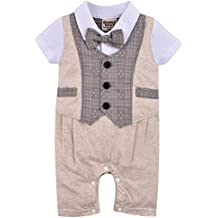 ZOEREA Baby Boys Formal Wear Wedding Suit Jumpsuit Outfit Clothes 0-24 Months ¡