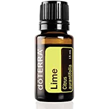 doTERRA Lime Essential Oil - Supports Healthy Immune Function, Promotes Mood, Emotional Balance, Well-Being, Aromatic, Topical, and Internal Cleanser; For Diffusion, Internal, or Topical Use - 15 ml
