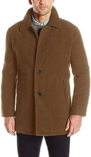 Cole Haan Signature Men's Wool Plush Car Coat, camel, L