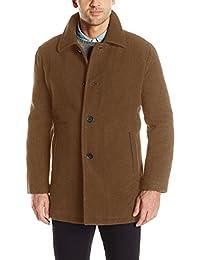 Cole Haan Signature Men's Wool Plush Car Coat, camel, Large